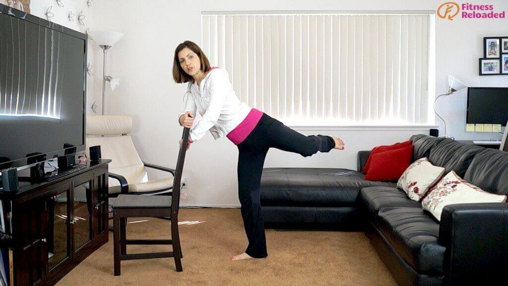 butt workout with chair