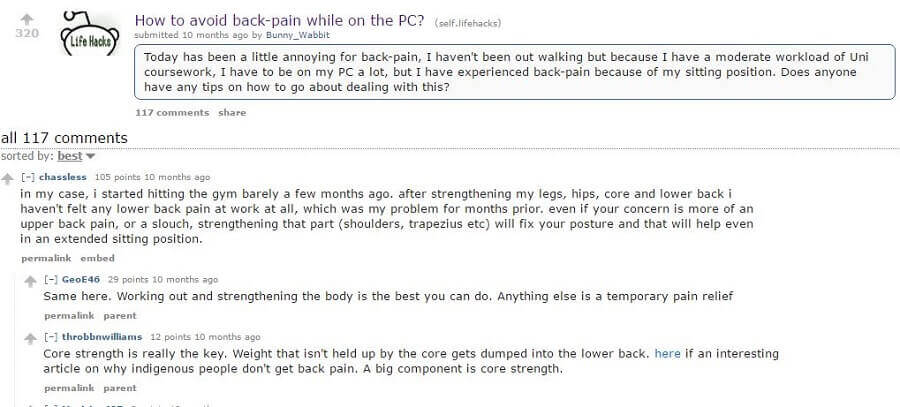 reddit stiff back pain