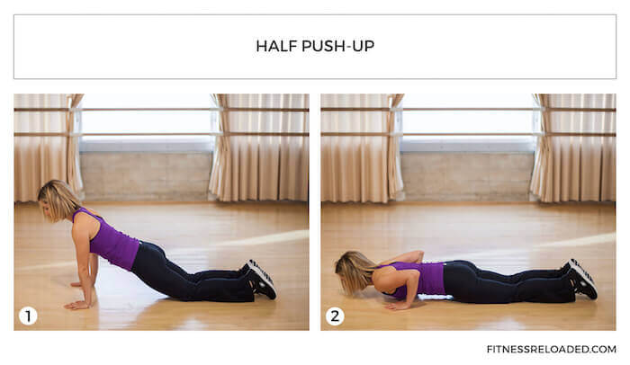half push up
