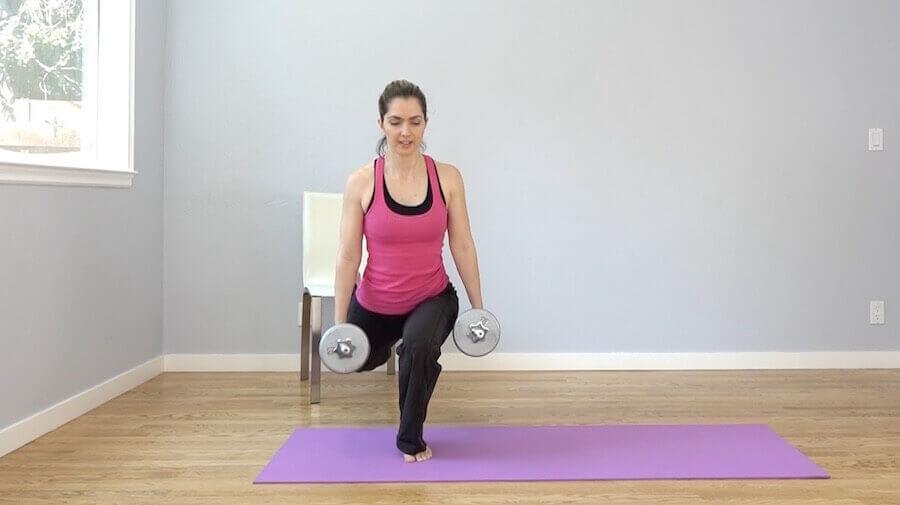 bulgarian split squat yoga