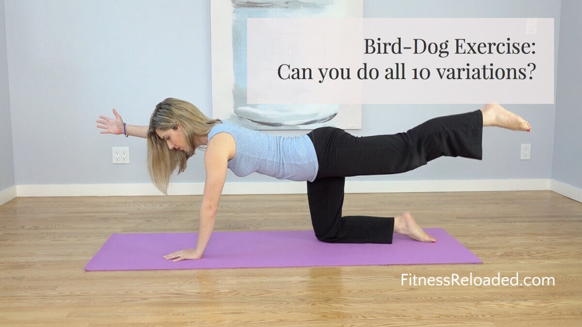 Bird Dog Exercise: Can you do all 10 variations? (video)