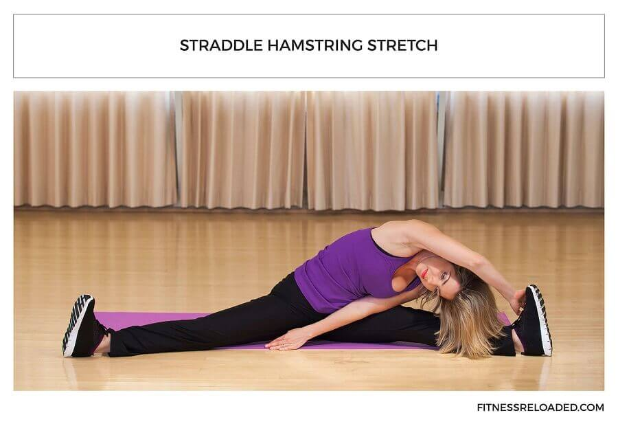 straddle hamstring stretch