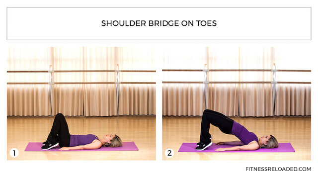 shoulder bridge on toes