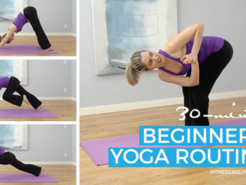 beginners' yoga routine